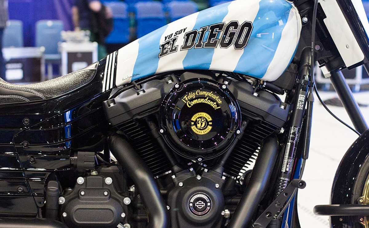Diego Maradona moto Harley Davidson 4