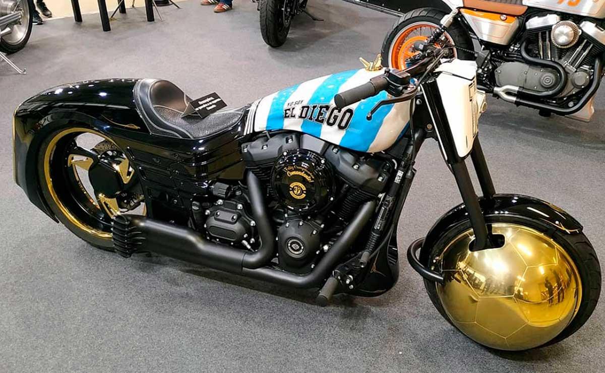 Diego Maradona moto Harley Davidson