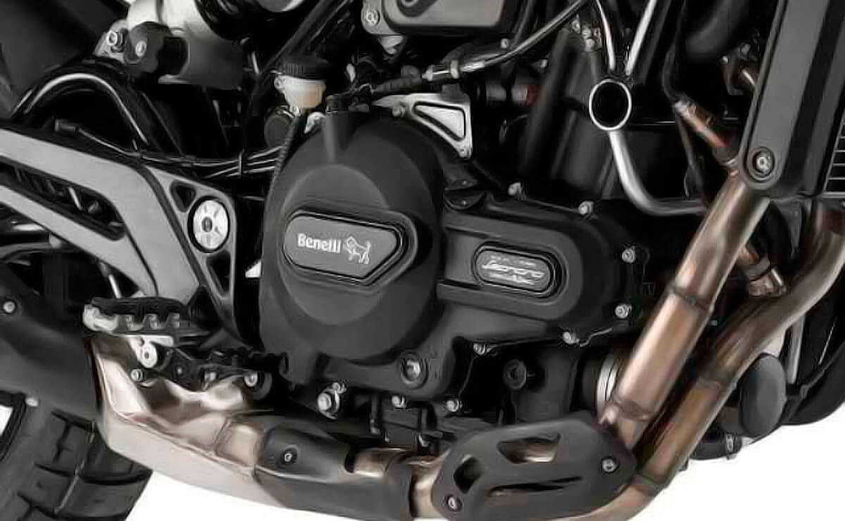 QJMotor Race 500 detalle motor posible Benelli deportiva