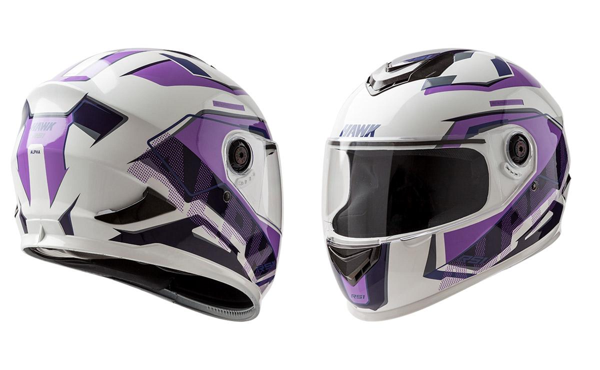 Hawk blanco y violeta