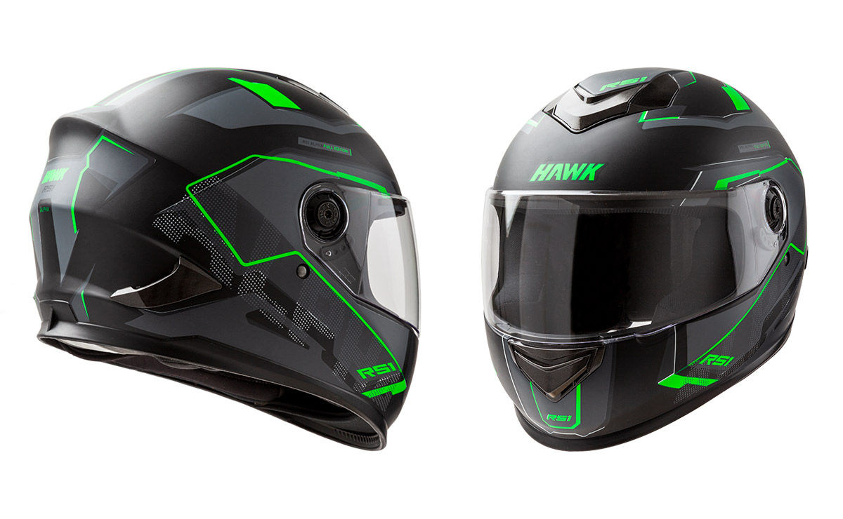 Hawk negro y verde