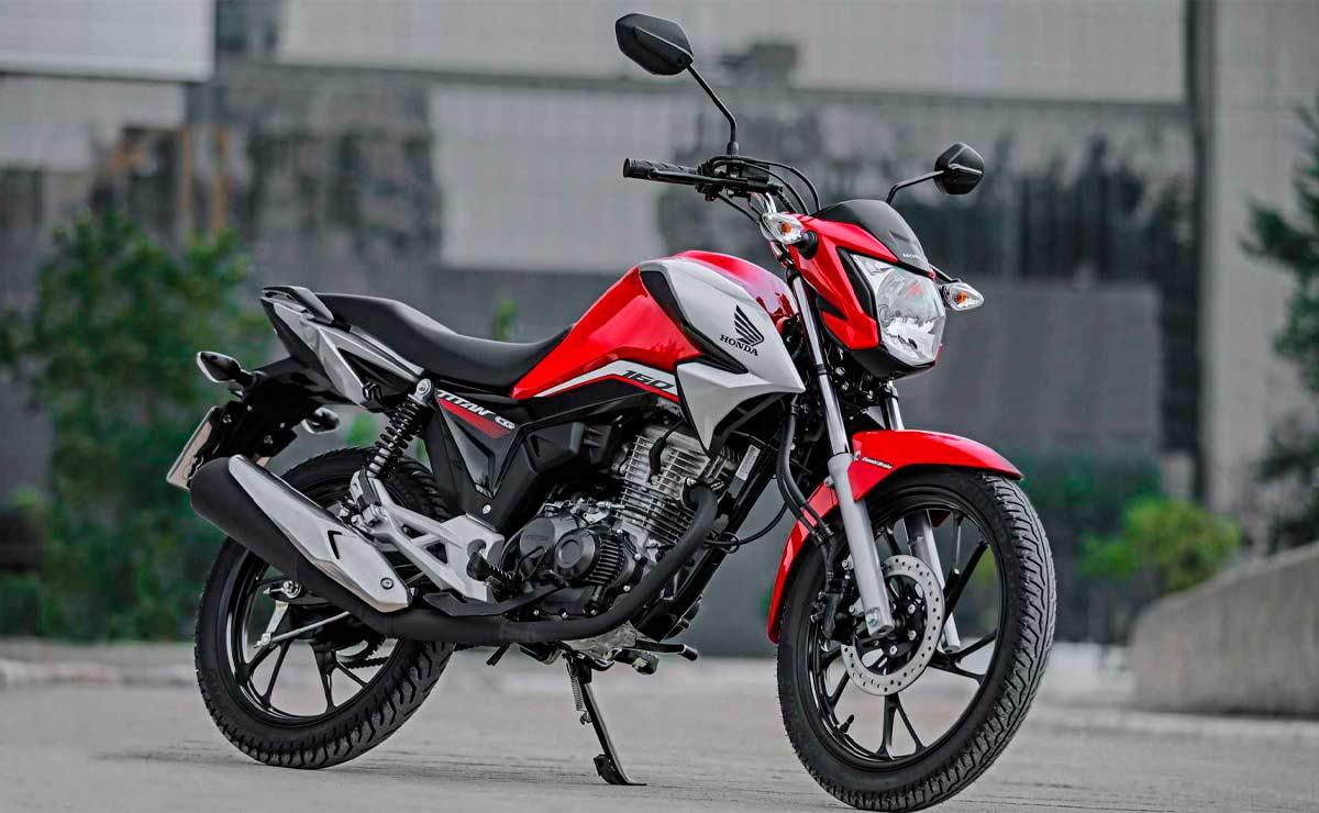 Honda CG 160 titan roja