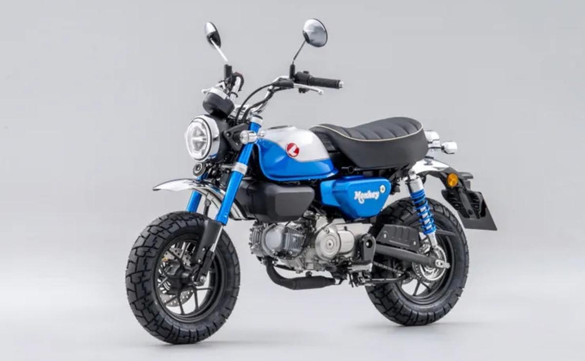 Honda Monkey 125 2022 azul lateral izquierdo