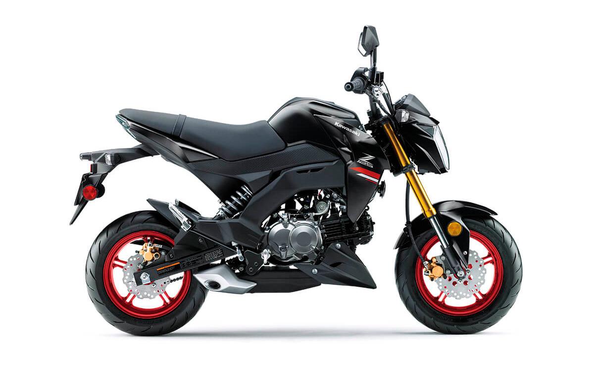 Kawasaki Z125 Pro negra lateral derecho