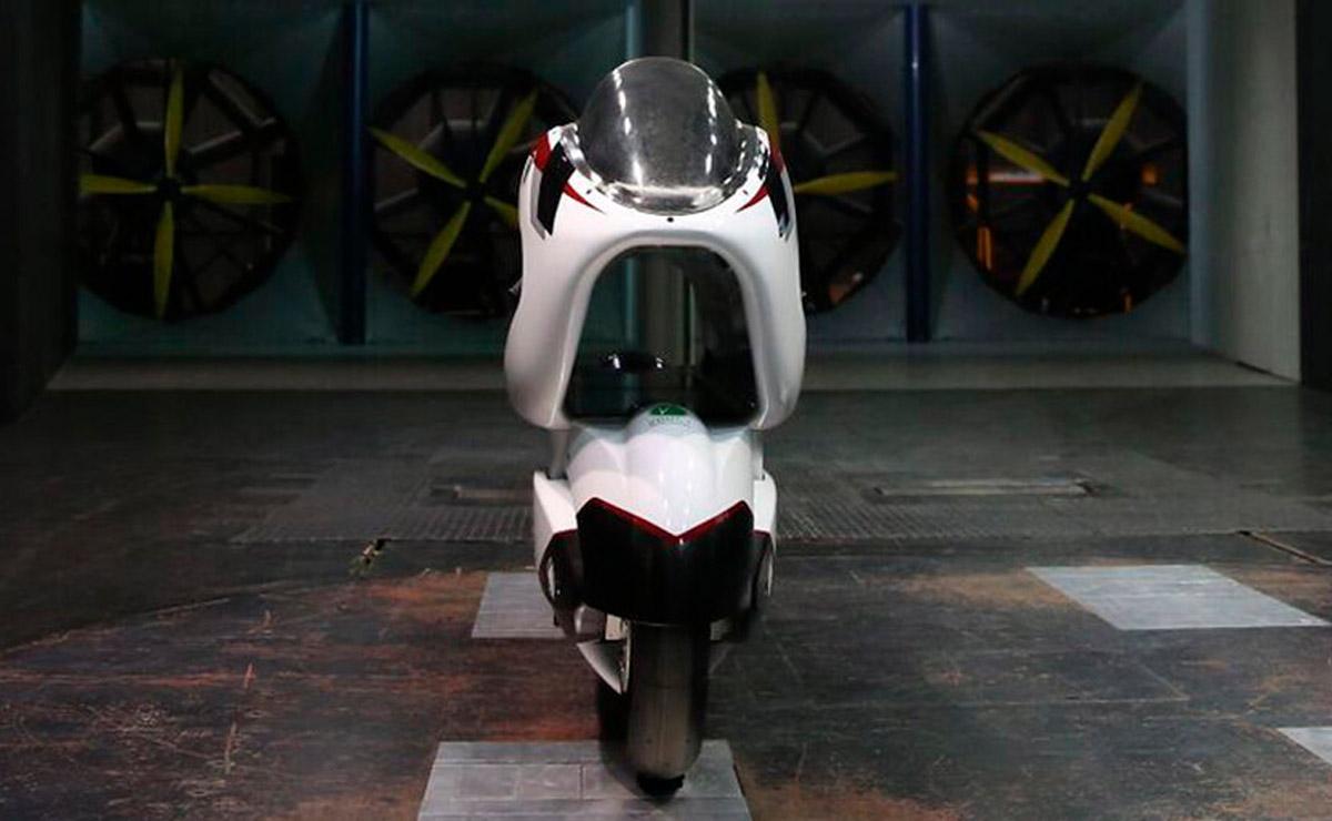 La moto más rápida del mundo vista frontal V-Air