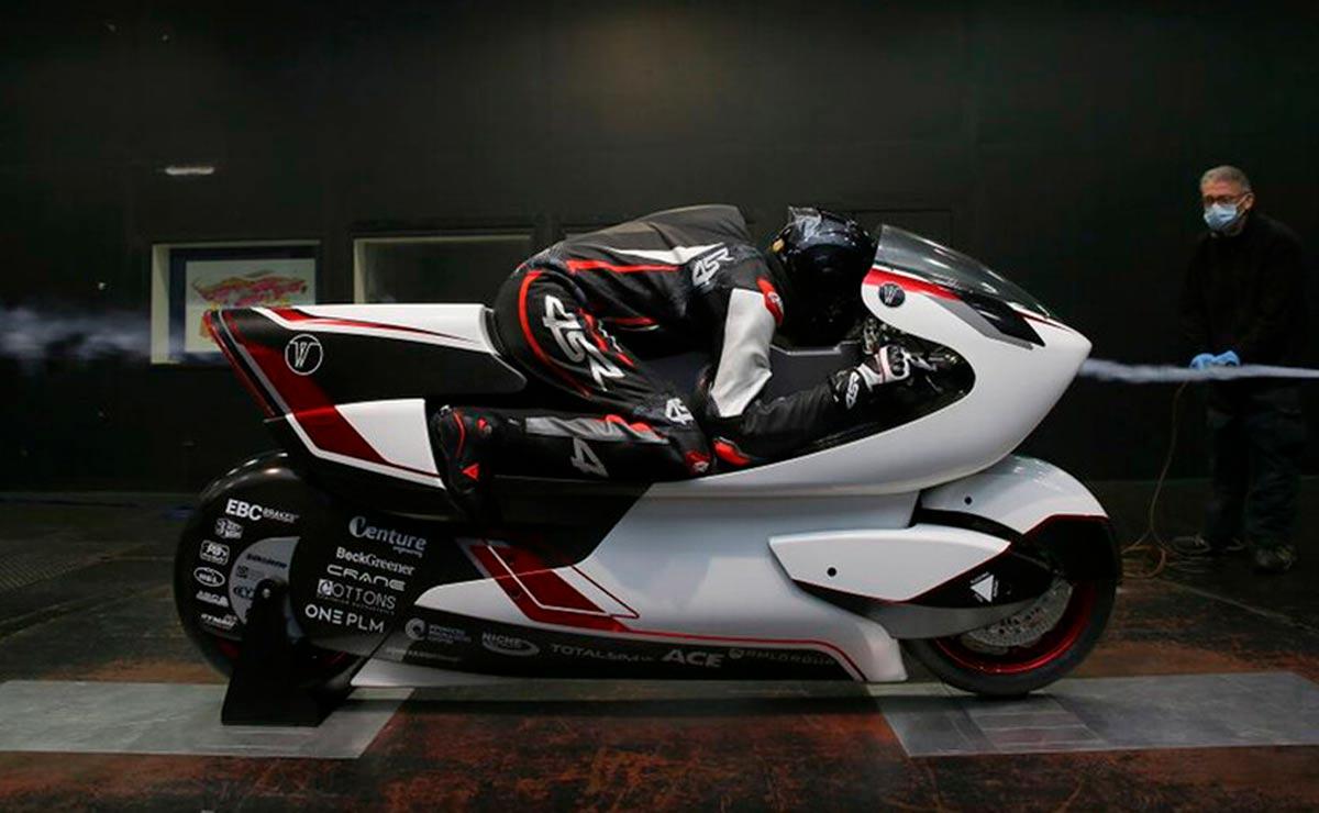 La moto más rápida del mundo vista lateral