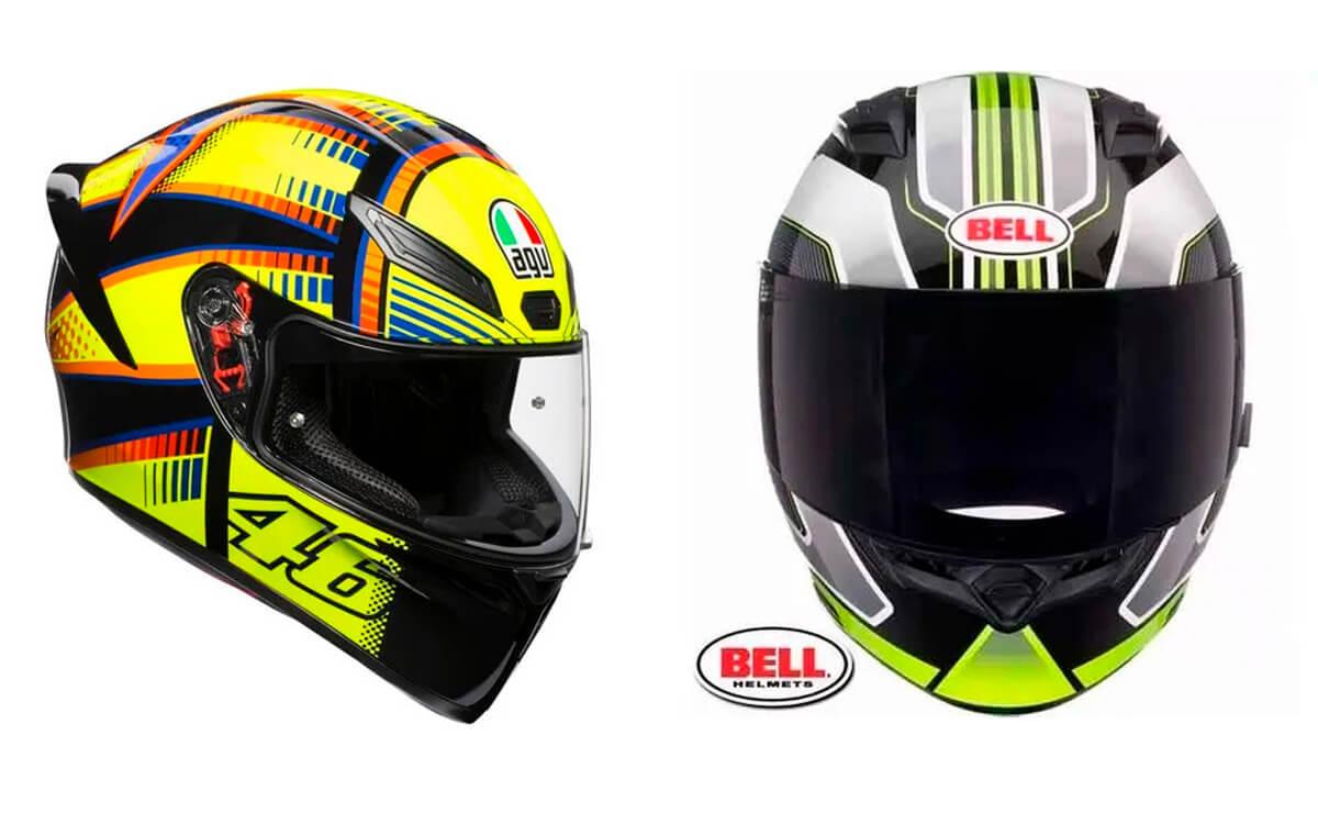 Las mejores marcas de cascos para motos AGV Bell