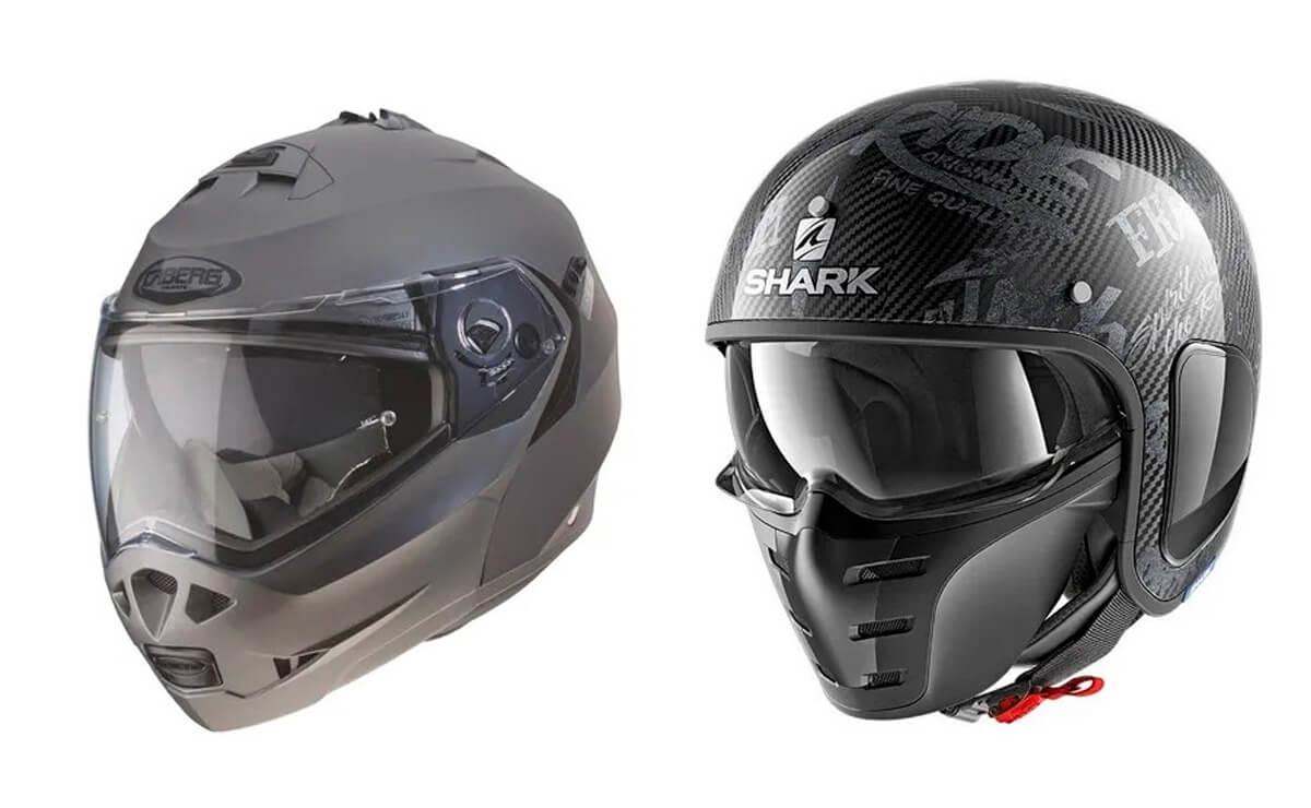 Las mejores marcas de cascos para motos Caberg y Shark