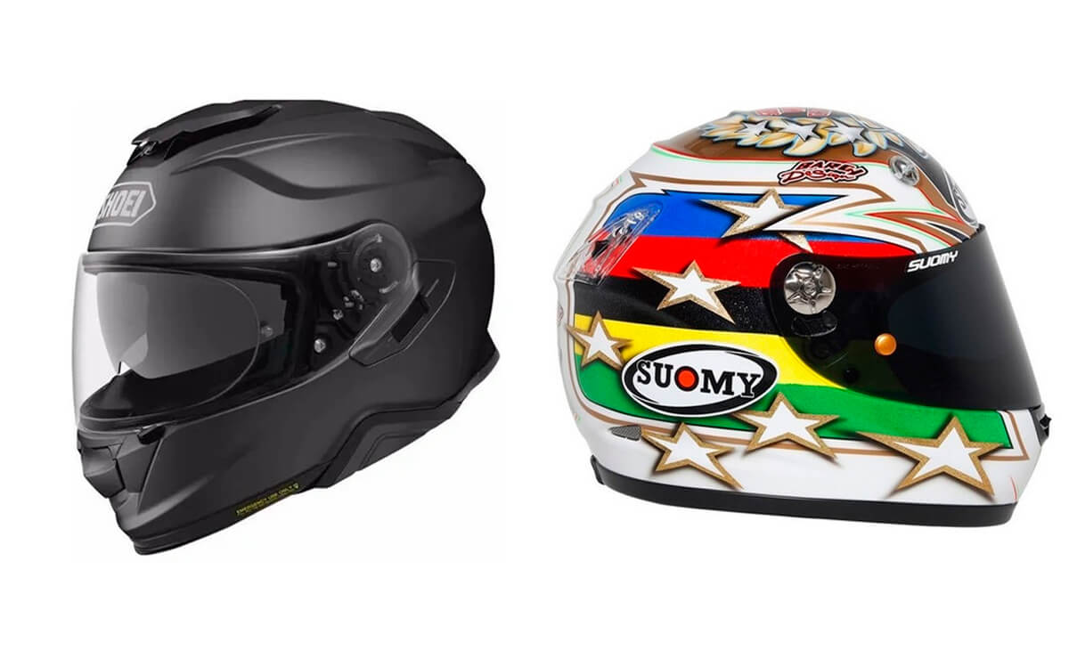 Las mejores marcas de cascos para motos Shoey y Suomy