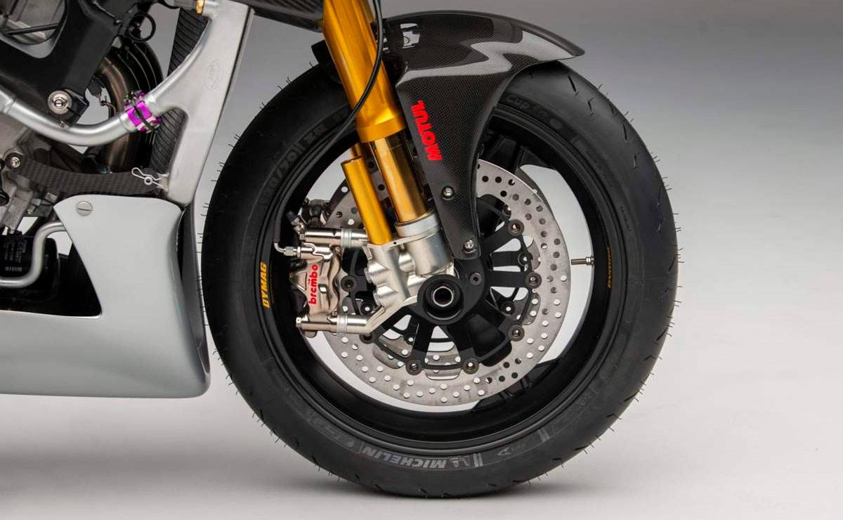 Suzuki Katana GSX-R 1000 detalle rueda delantera frenos Brembo suspension
