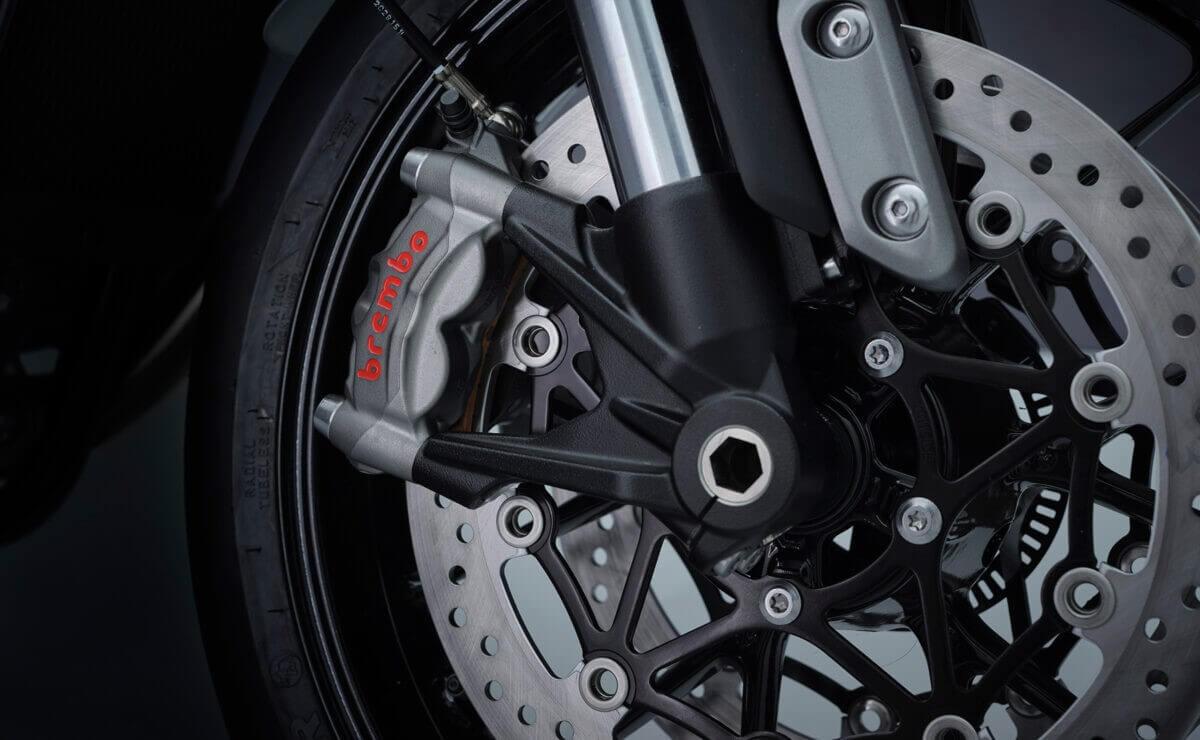 Triumph Speed Twin 2021 detalle freno delantero
