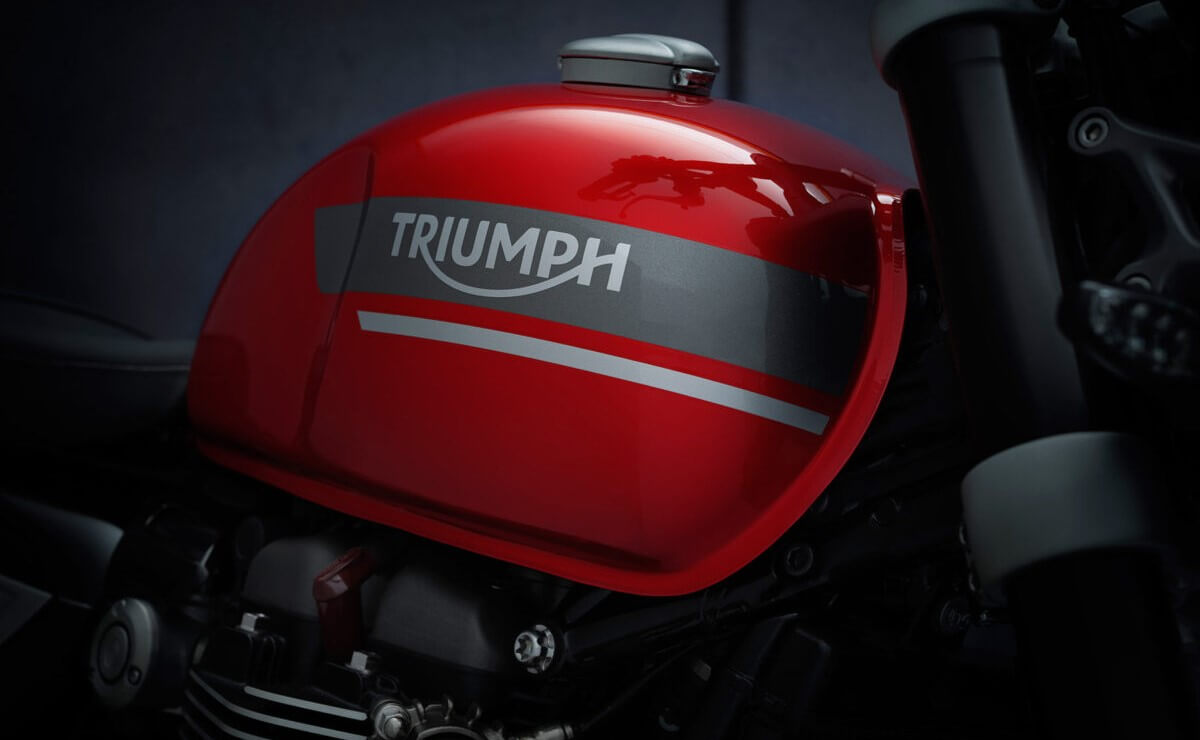 Triumph Speed Twin 2021 detalle tanque de combustible