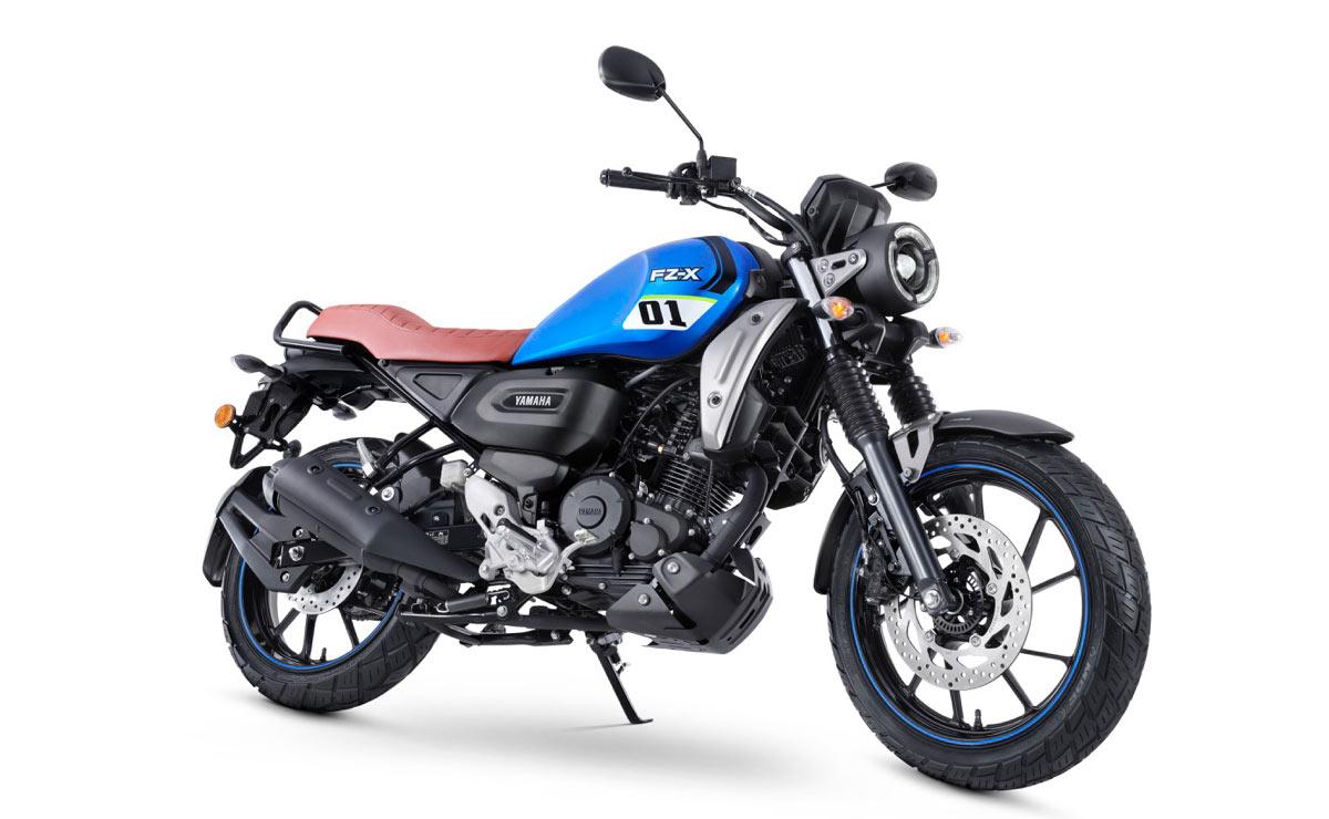 Yamaha FZ-X metallic blue