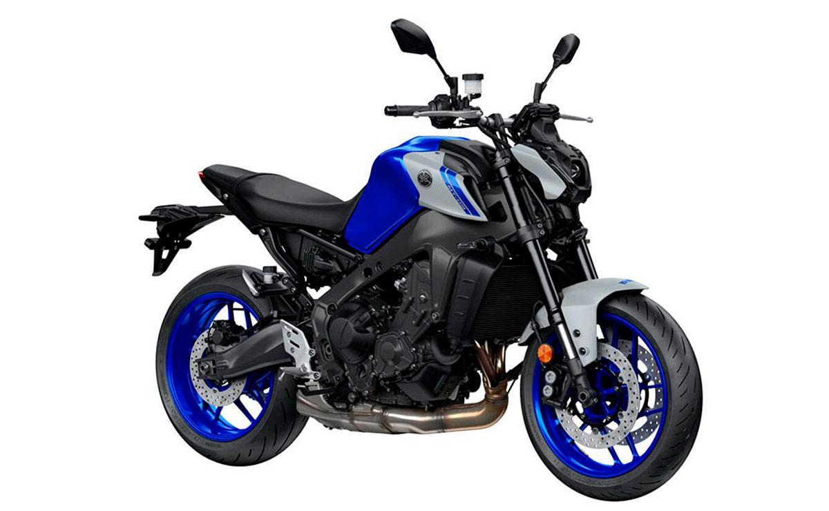 Yamaha MT-09 azul y gris
