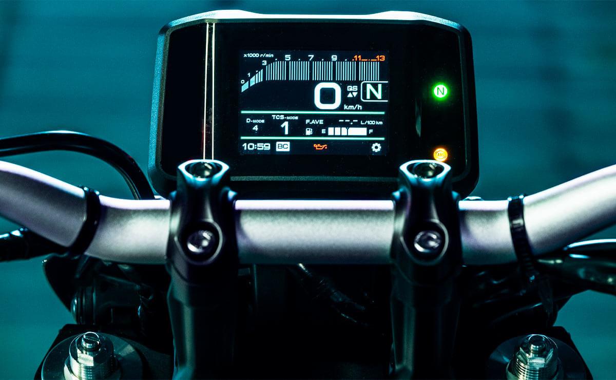 Yamaha MT-09 en Argentina detalle pantalla
