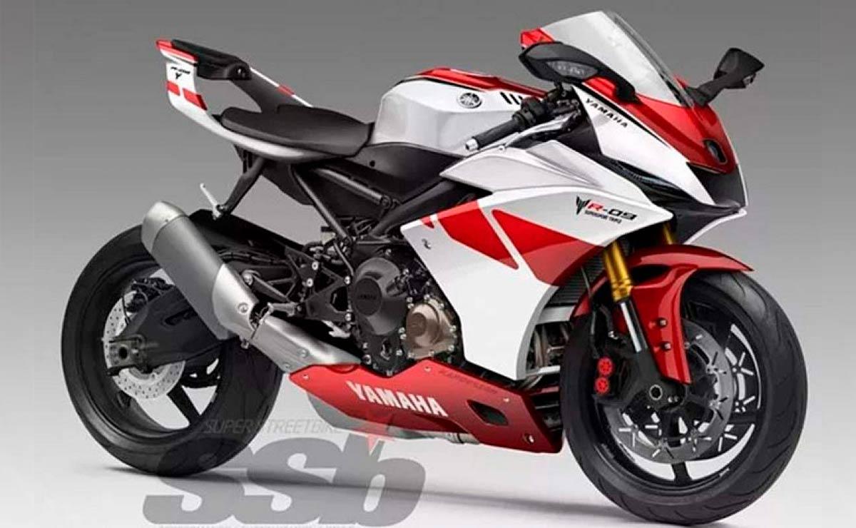 Yamaha R9 roja y blanca