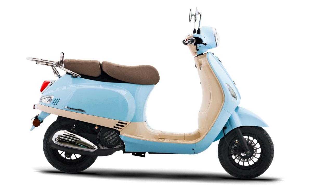 Zanella scooter Exclusive LT celeste