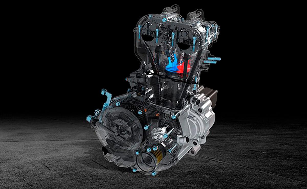 Zontes R310 motor monocilíndrico