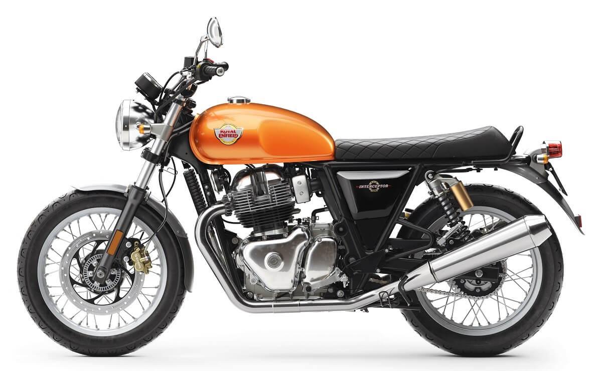 motos mas vendidas arriba de los 5.000 dólares Royal Enfield Interceptor 650