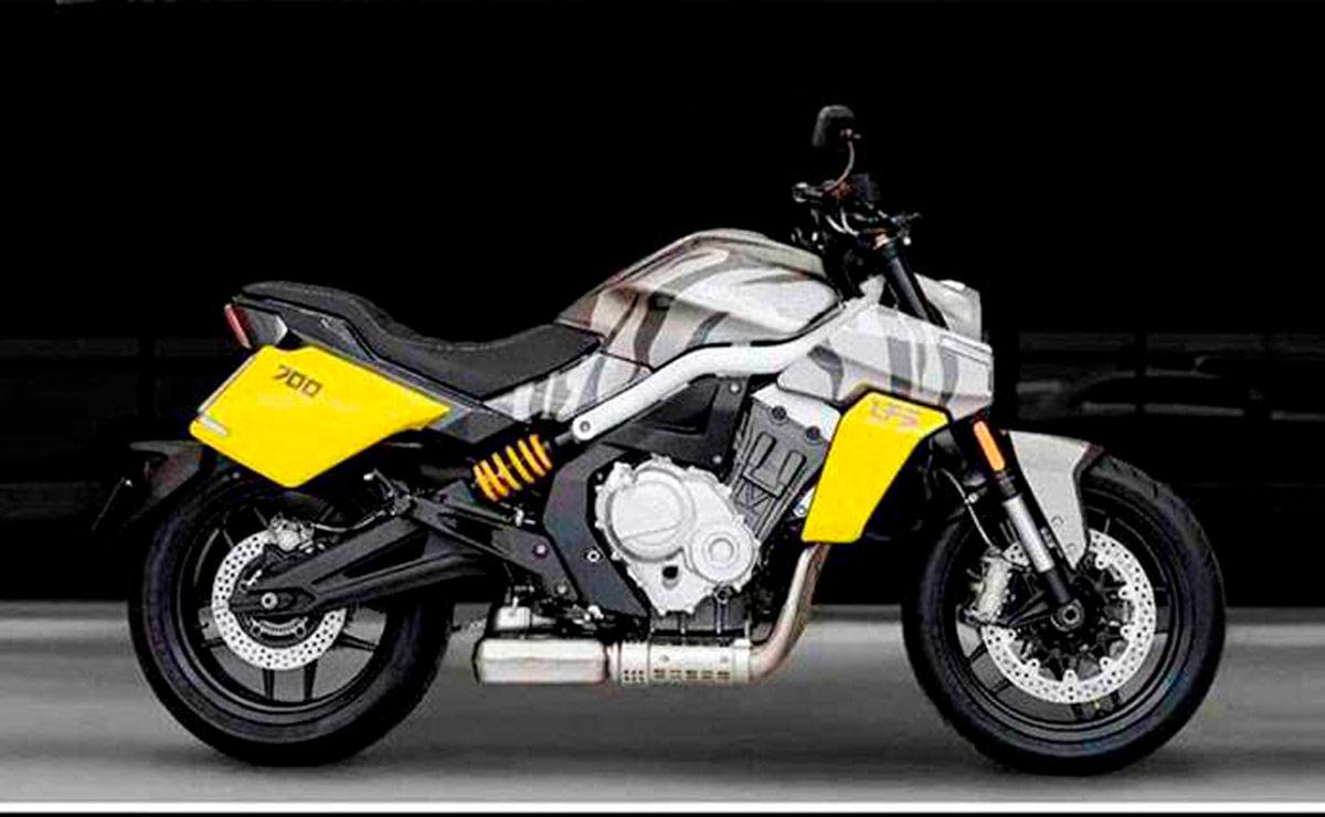Benda LSF-700 naked china cuatro cilindros amarilla