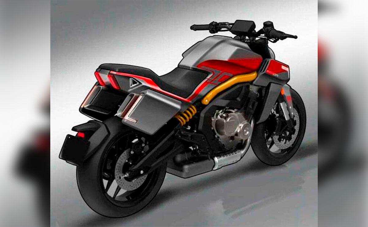 Benda LSF-700 naked china cuatro cilindros roja