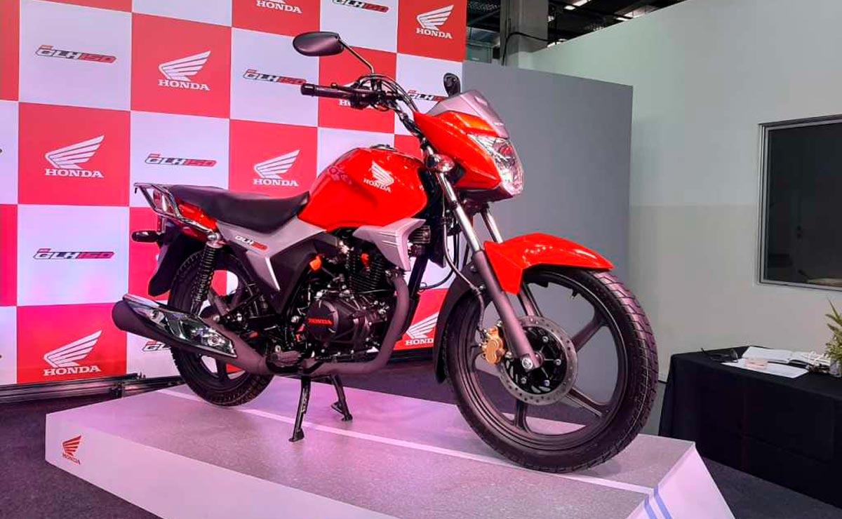 Honda GLH150 roja presentación