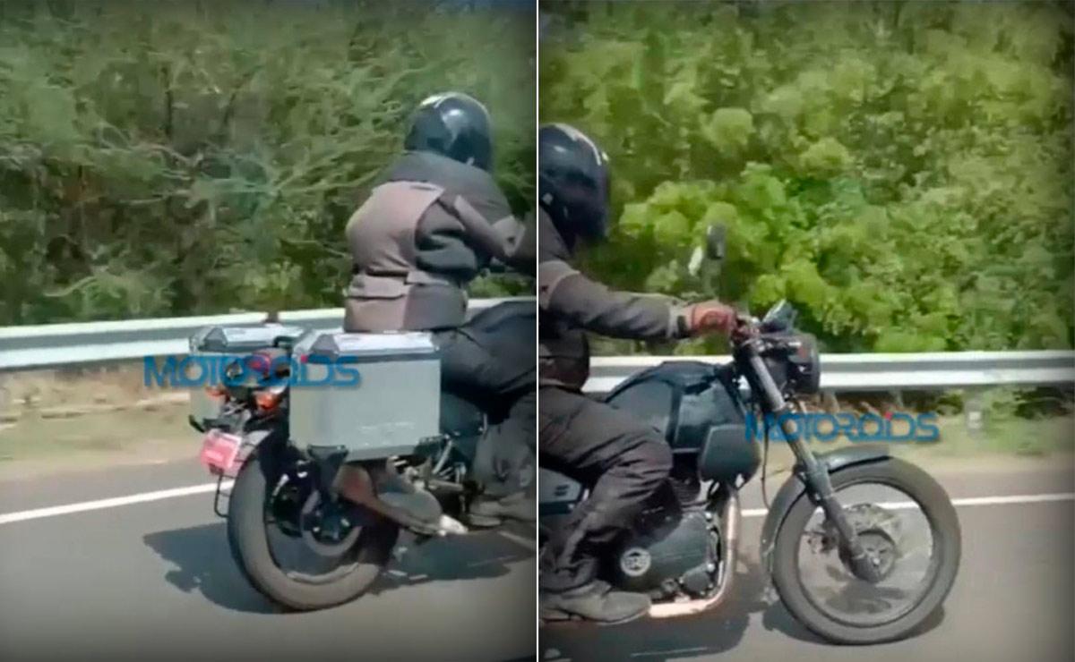 Royal Enfield Himalayan fotos espía collage