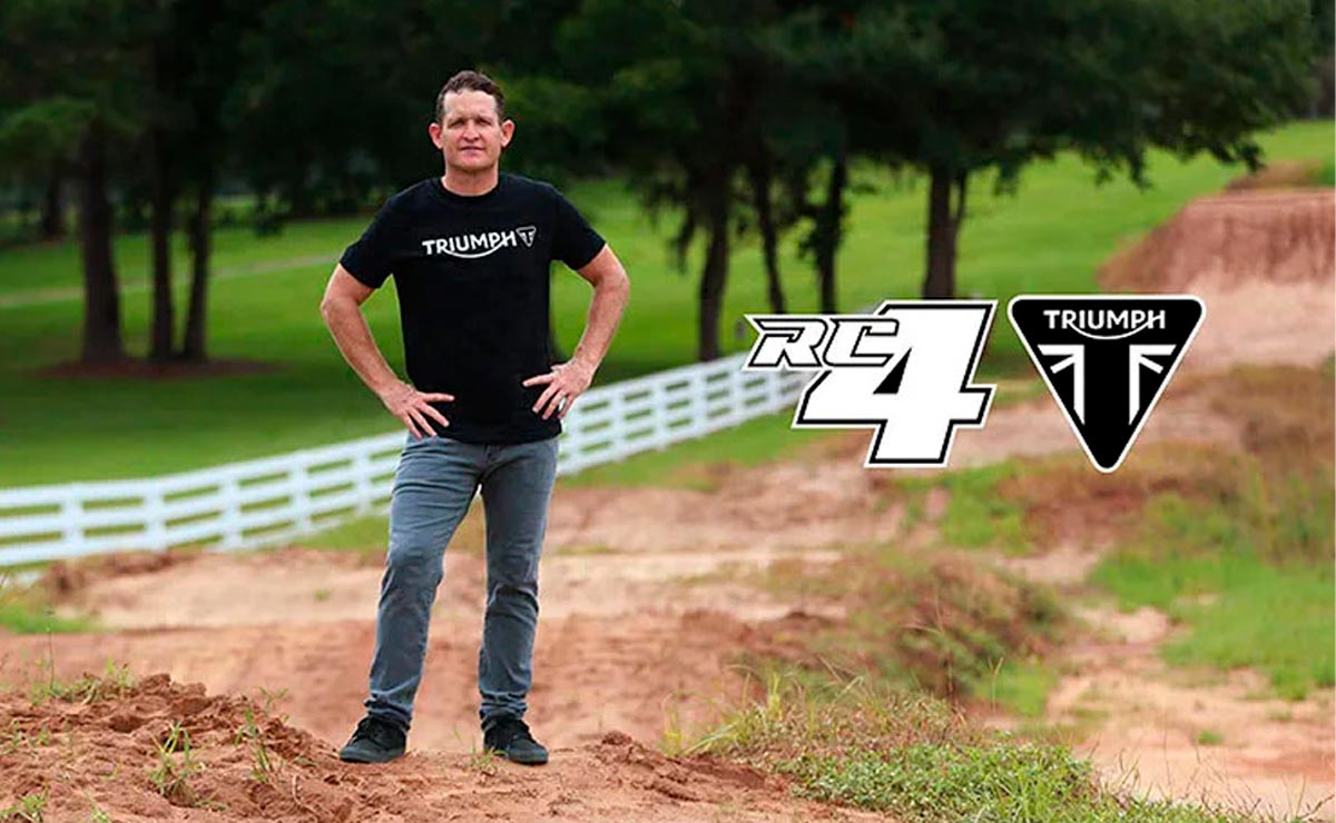 Triumph motocross enduro Rick Carmichael