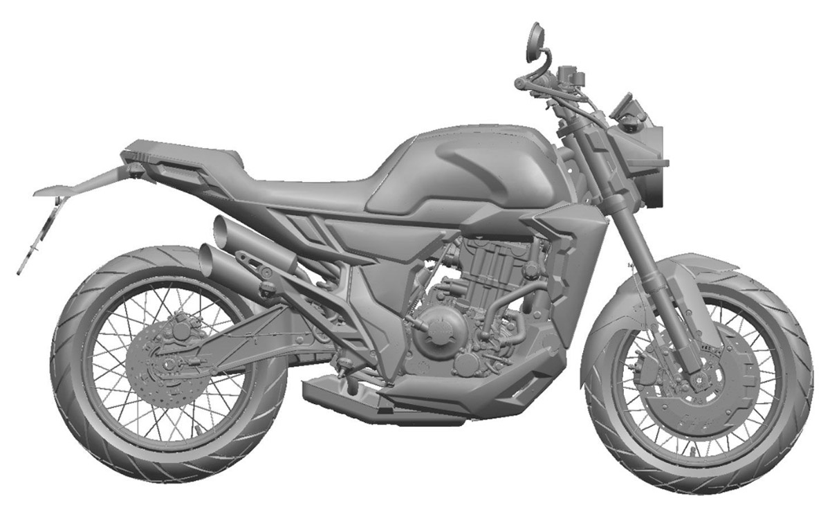 Zontes 350GK patente vista lateral derecho