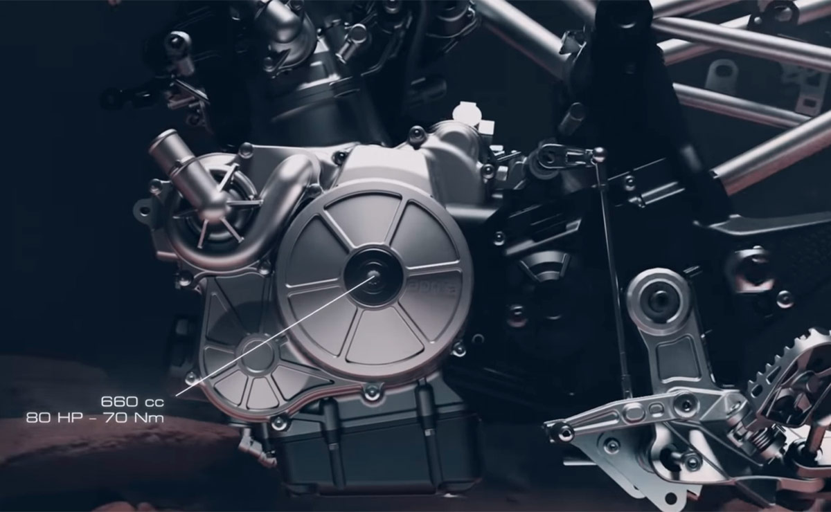 Aprilia Tuareg 660 motor