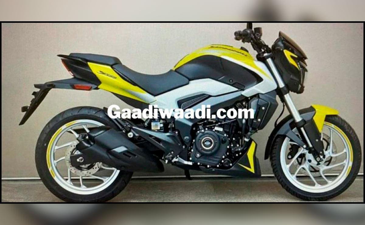 Bajaj Dominar 250 nuevo color blanco y amarillo