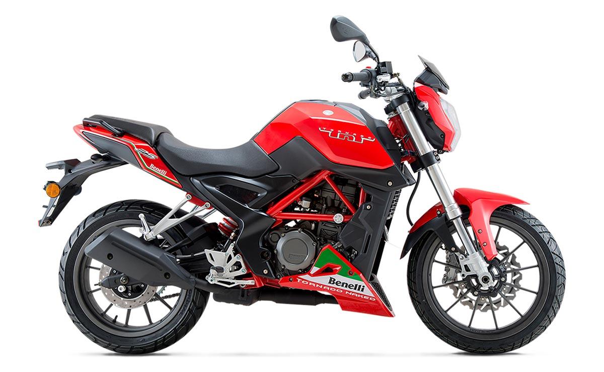 Benelli TNT25 roja lateral derecho