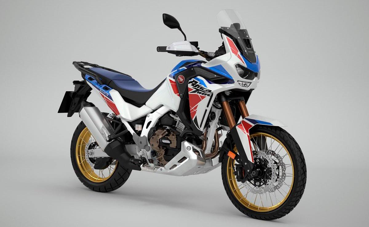 Honda Africa Twin 2022 Adventure Sports blanca azul y roja