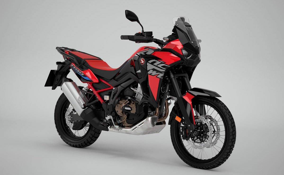 Honda Africa Twin 2022 versión base roja y negra