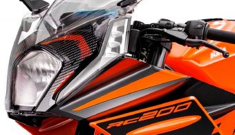 KTM RC 200 2022 faro principal