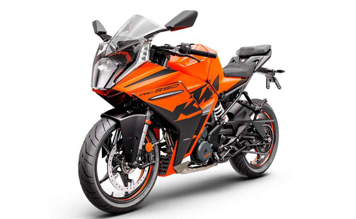 KTM RC 390 2022 naranja y negro