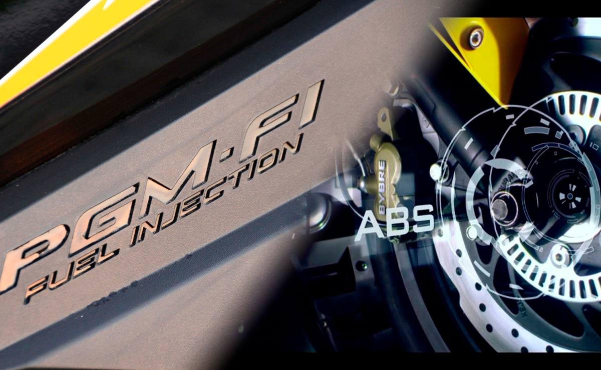 Motos entre 300 y 600 mil pesos con inyección electrónica y ABS