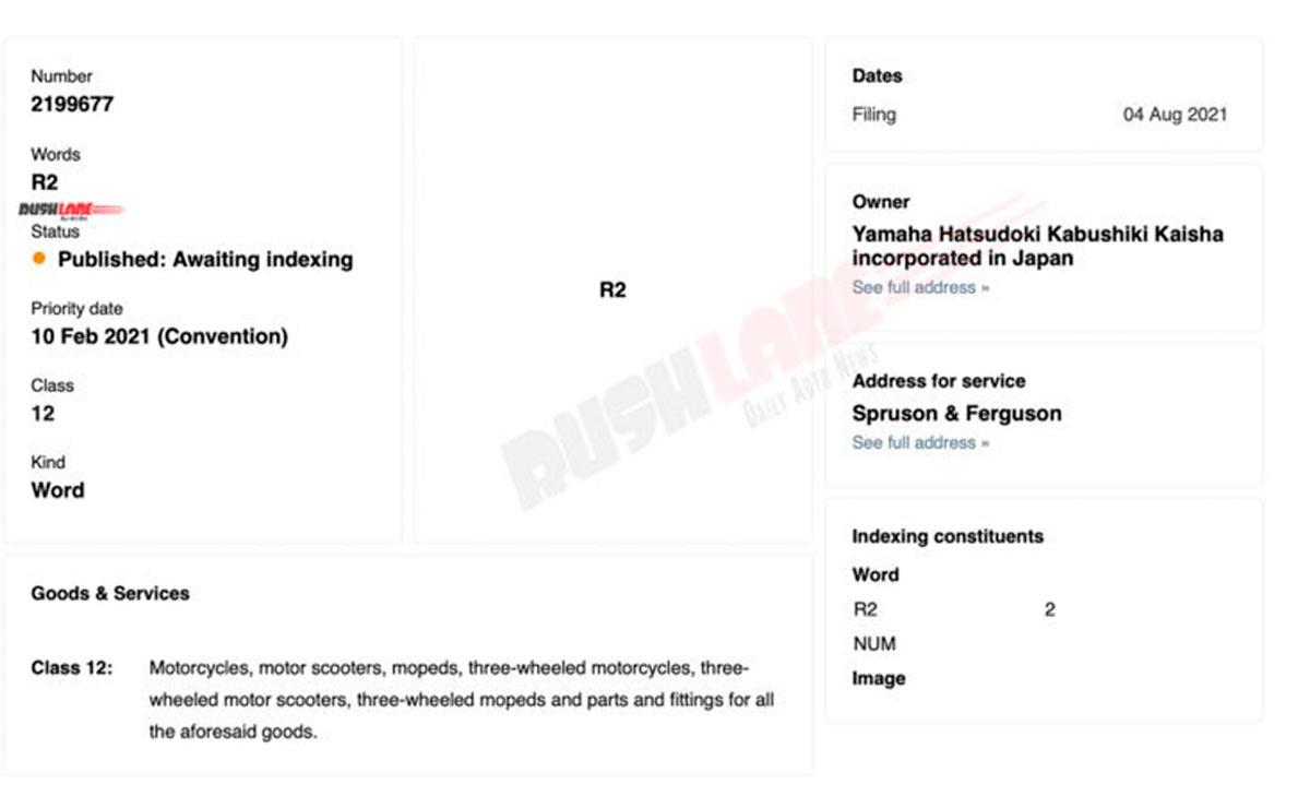 Yamaha novedades gama R patente R2