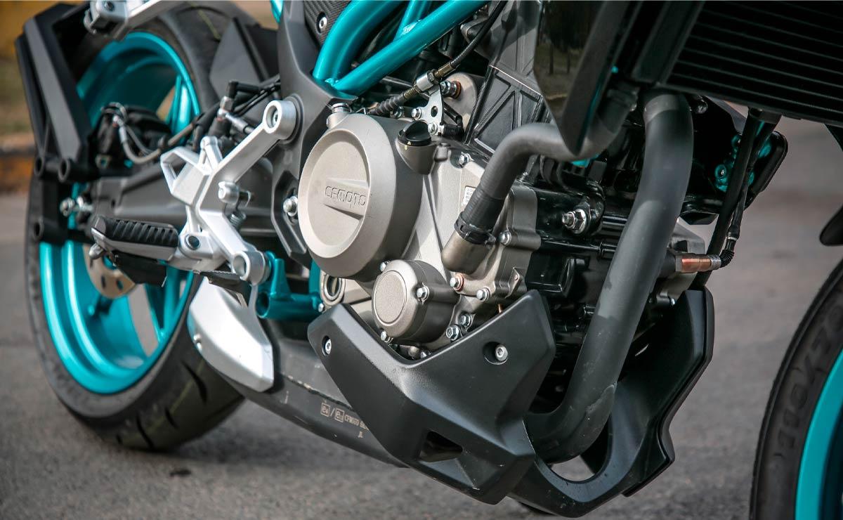 Zanella CFMoto RZ 300 detalle motor vista 1