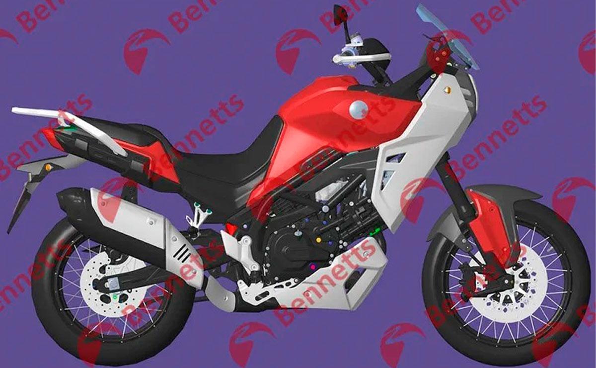 Benelli TRK V-Twin de 650cc lateral derecho