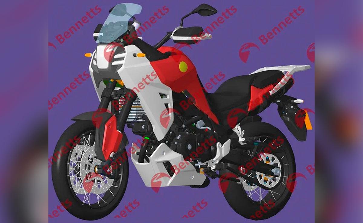 Benelli TRK V-Twin de 650cc lateral izquierdo diagonal