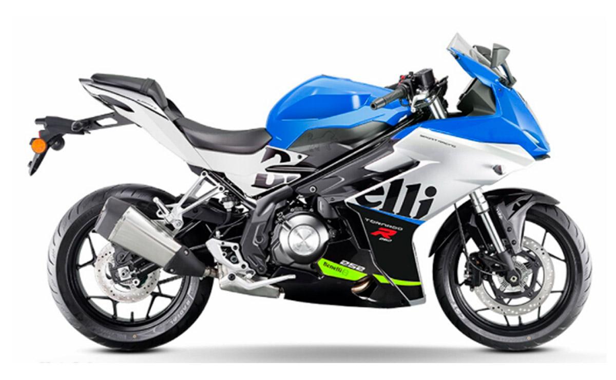Benelli Tornado 252R 2022 azul y gris
