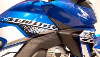 Honda CB250 Twister fabricación nacional detalle gráfica nombre modelo