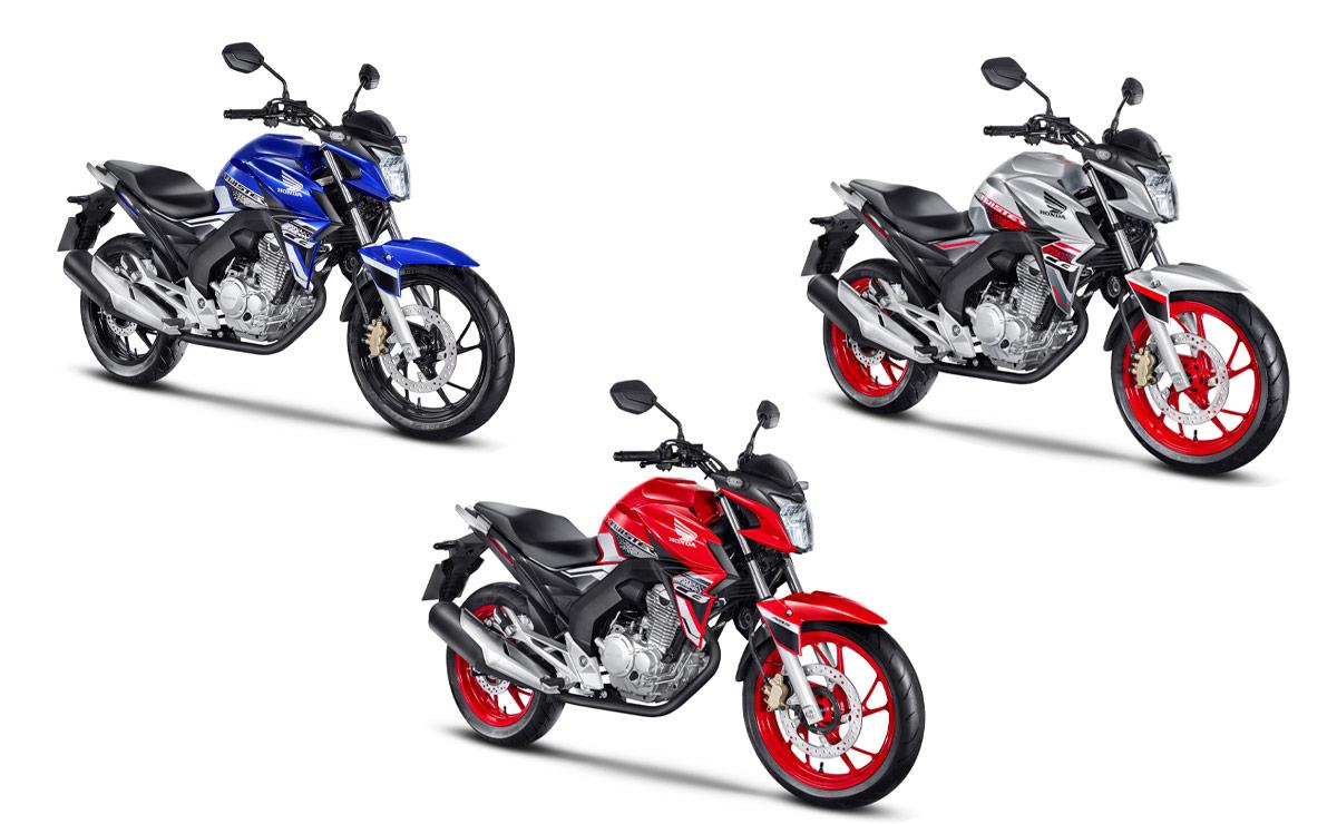 Honda CB250 Twister fabricación nacional tres colores
