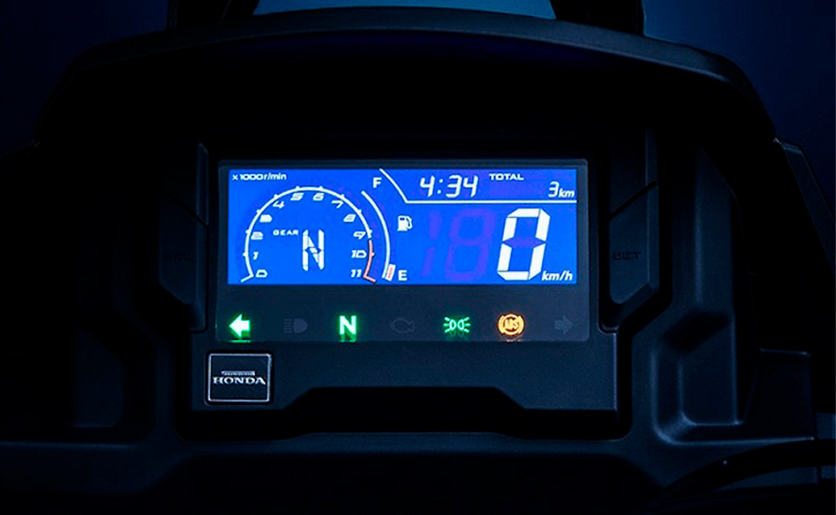 Honda CRF190L Africa Twin baja cilindrada detalle panel
