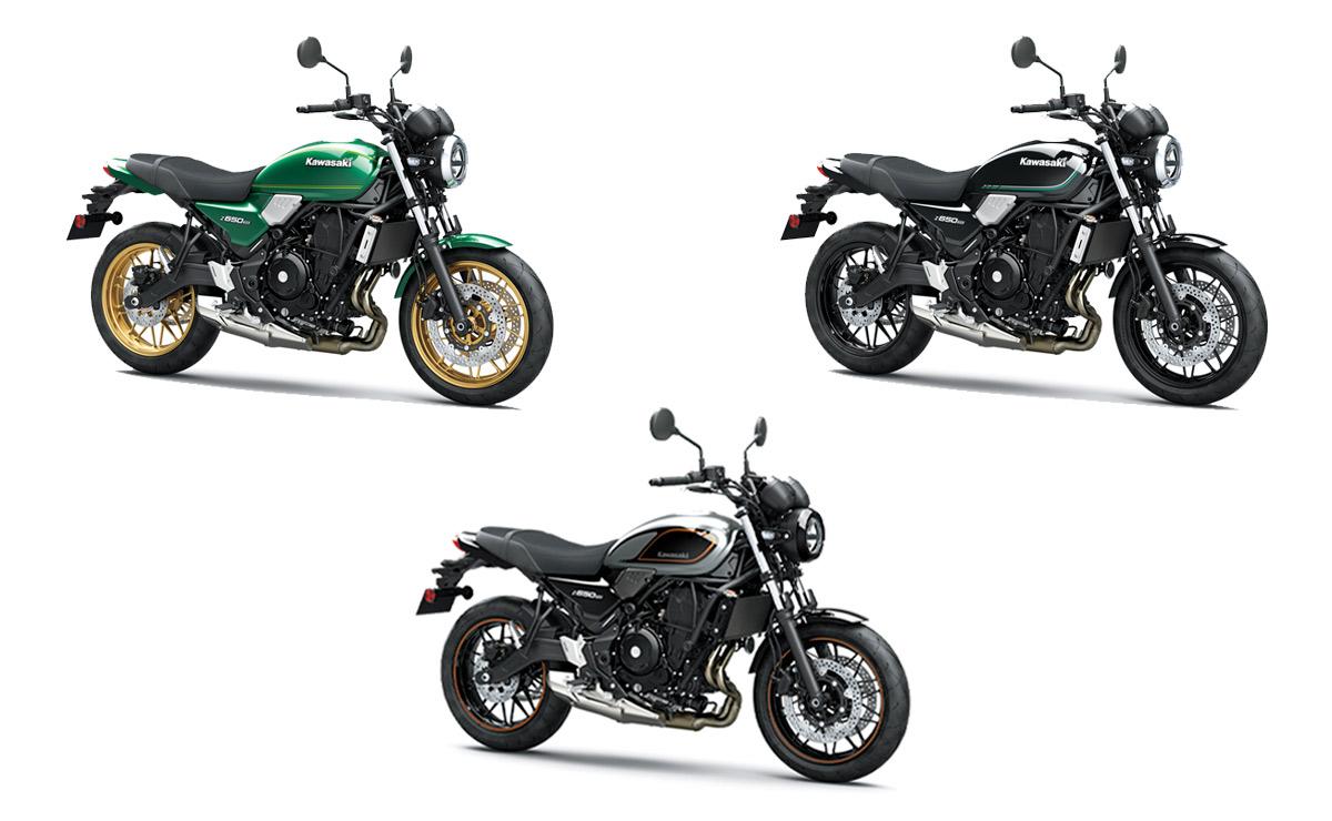 Kawasaki Z650RS 2022 tres colores verde negra gris