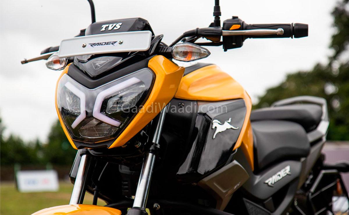 TVS Raider naked deportiva 125cc amarilla