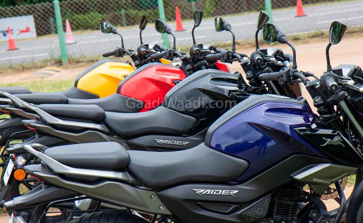TVS Raider naked deportiva 125cc cuatro colores