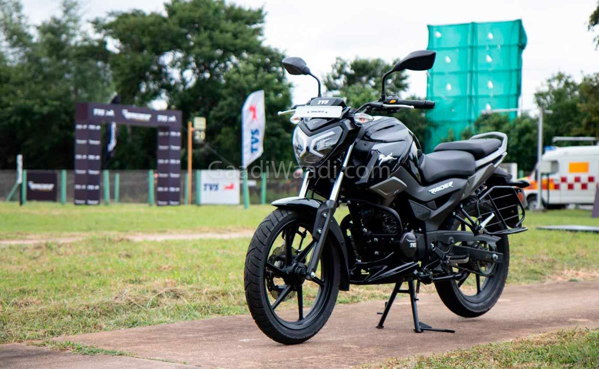 TVS Raider naked deportiva 125cc negra