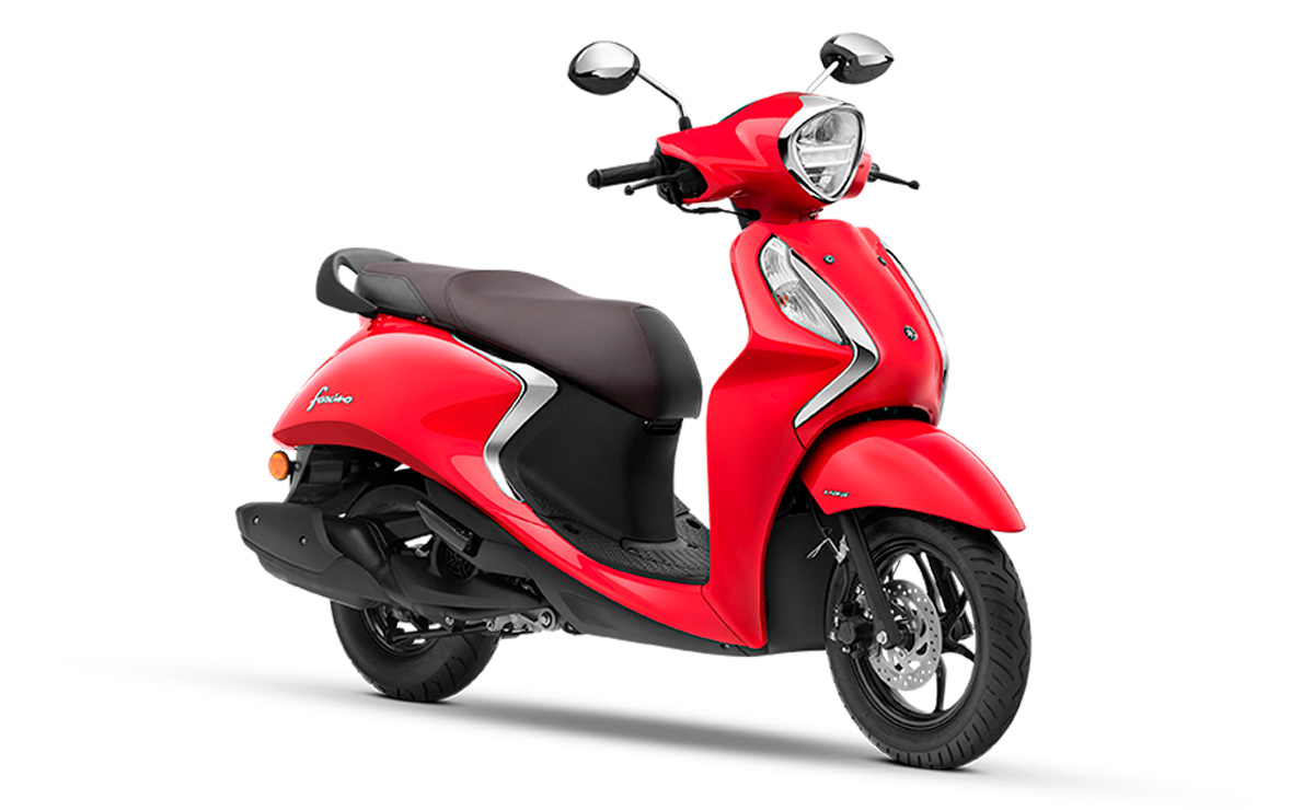 Yamaha Fascino 125 Híbrido rojo